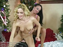 Hot curly hair blonde rides a sybian tubes