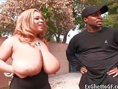 Thick black girl passionately sucks dick outdoors tubes