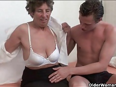 Granny gobbles knob and gets fucked hard tubes
