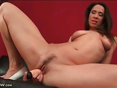Milf blows and fucks her favorite dildo tubes