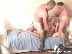 Horny mature wife shared in threesome video tubes