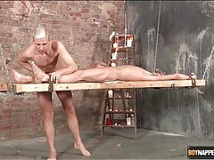Twink in bondage licked by his master tubes