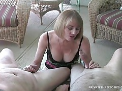 Milf strokes dick and talks naughty to camera tubes