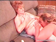 Amateur mature lesbians have sex as he films them tubes