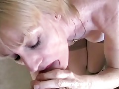 Close up milf fuck and bj with a facial tubes