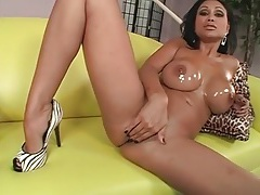 Oiled up priya rai sucks on a big cock tubes