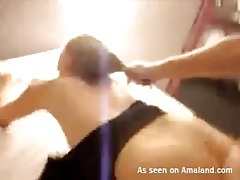 Homemade doggystyle sex with hard hair pulling tubes