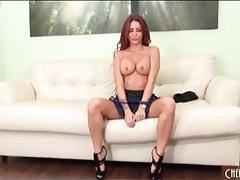 Pornstar monique alexander strips to heels and panties tubes