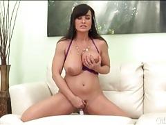 Lisa ann rubs a vibrator around her milf pussy tubes