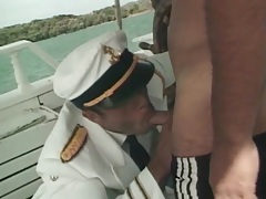 Sailors on a boat have hot anal sex tubes