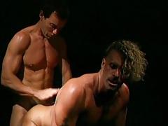 Gay hunks have balls deep anal sex tubes