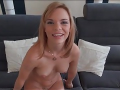 Teenager strips and gives a sexy slow blowjob tubes