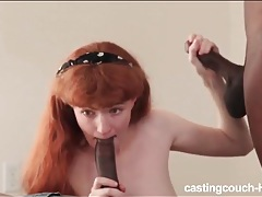 Milky white redhead fucked by two black guys tubes