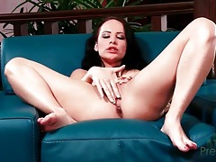 Katie st ives kisses her toes and fingers her cunt tubes