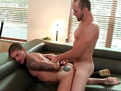 Wet rimmed out asshole fucked from behind tubes