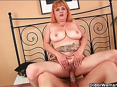 Sexy old lady with big breasts gets laid tubes