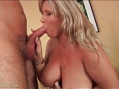 Curvaceous mature oiled up and tit fucked tubes