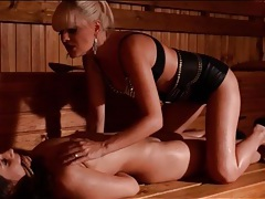 Tied girl teased and ass fucked by mistress tubes