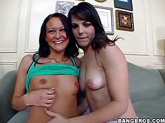 Bobbi starr and skinny girl strip together tubes