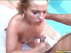 Ass fucked latina takes a load on her tits tubes