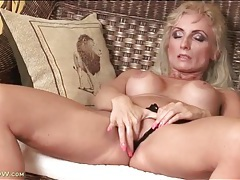 Tight body mature with fake tits fingers cunt tubes