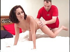 Cute girl does doggystyle and on top fucking tubes