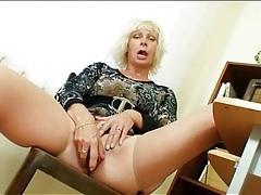Mature teacher in skintight dress masturbates tubes