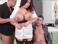 Huge tits asian in hot hardcore threesome tubes