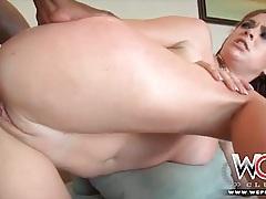 Black dick fucks balls deep into a white asshole tubes