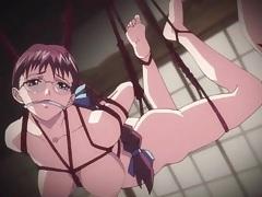 Lesbian double dildo sex with bound hentai girls tubes