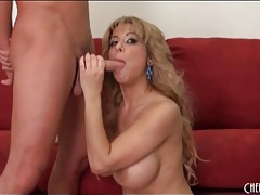 Huge tits milf alyssa lynn swallows cock tubes