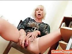 Mature teacher opens her legs and masturbates tubes