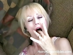 Sexy blonde wife fucked balls deep in doggystyle tubes