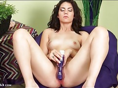 Hairy young cunt gets wet from toy sex tubes