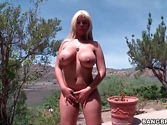 Outdoor asshole close up with bridgette b tubes