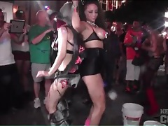 Party girls with nice tits dancing in the streets tubes
