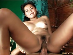 Adorable asian amateur slowly fucked in the cunt tubes