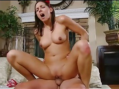 Young shaved cunt pummeled by hard cock tubes