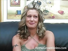 Big hair blonde swallows his dick in pov porn tubes