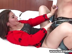 Cute latina in braces sucks dick with passion tubes