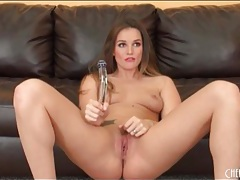 Pornstar tori black toys her hot snatch deep tubes