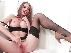 Hot pornstar shawna lenee in lisptick and lingerie tubes