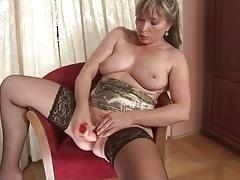 Perky boobs mature girl dildo fucks her pussy tubes