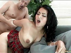 Latina with big bush fucked from behind tubes