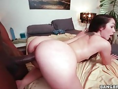Tight pussy white girl rides big black cock tubes