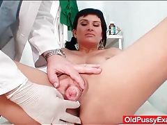 Big tits mature here for a doctor exam tubes