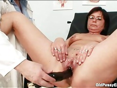 Pierced pussy mature gets a gyno exam tubes