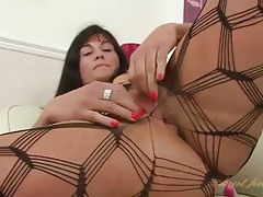 Body stocking is sexy on the masturbating milf tubes