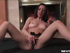 Fireside masturbation with a great tits babe tubes
