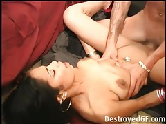 Gagging facefuck and a good hardcore screw tubes